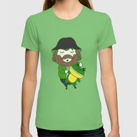Jim Womens Fitted Tee Grass SMALL