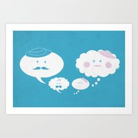 A Thoughtful Family Art Print