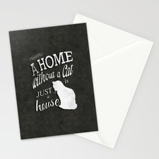 Home with Cat Stationery Cards