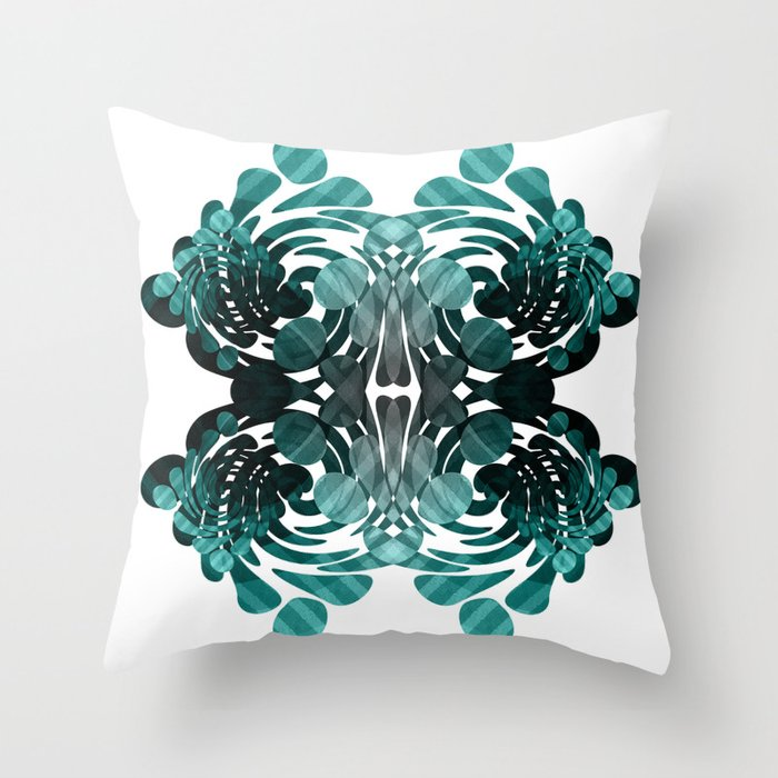 Abstract black and teal Throw Pillow by VanessaGF Society6