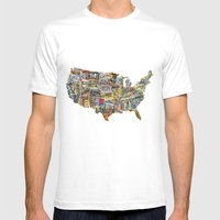 Greetings From Mens Fitted Tee White SMALL