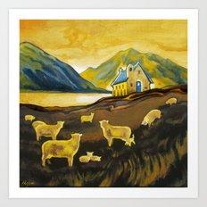The Good Shepherd, Lake Tekapo Art Print