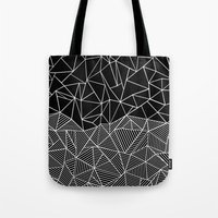 Ab Half And Half Black Tote Bag