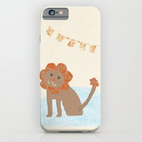 iPhone & iPod Case featuring lion collage by flying bathtub
