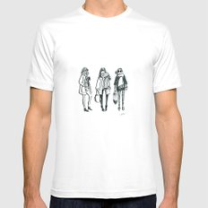 Brush Pen Fashion Illustration - East Coast Girls Mens Fitted Tee White SMALL