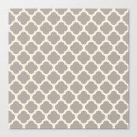 Gray Clover Canvas Print