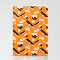 sweet things (on orange) Stationery Cards