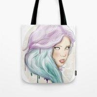 Green hair Tote Bag