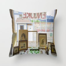 Store window  Throw Pillow