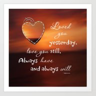 Art Print featuring Always Love You by LLL Creations