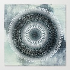 WINTER LEAVES MANDALA Canvas Print
