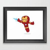 IRON MAN ROBOTIC Framed Art Print
