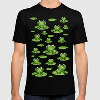 Froggies!  Mens Fitted Tee Black SMALL