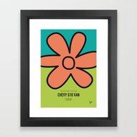 No020 My SCOOBY Minimal … Framed Art Print