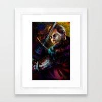 Knight Captain turned Advisor Framed Art Print