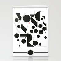 B&W Typography Stationery Cards