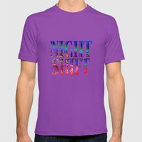 Night Shift Mens Fitted Tee Ultraviolet SMALL