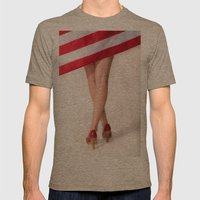 American Legs Mens Fitted Tee Tri-Coffee SMALL