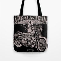 White Lightning Tote Bag