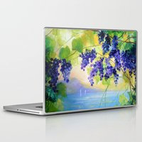 italy Laptop & iPad Skins featuring Grapes Italy by OLHADAR