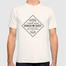 Hunger & Thirst Mens Fitted Tee Natural SMALL