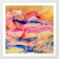 Unicorn Blood and Melted Popsicles Art Print