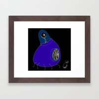 Monster and Grandma Framed Art Print