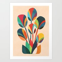 Ikebana - Geometric flower  Art Print