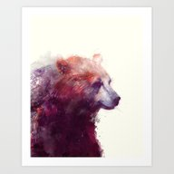 Art Print featuring Bear // Calm by Amy Hamilton