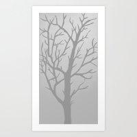 Misty Tree Art Print