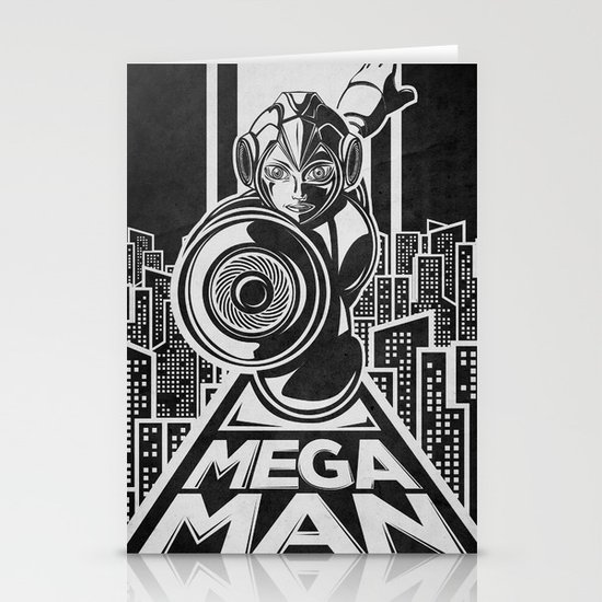 Megaman. In the year 20xx Stationery Card