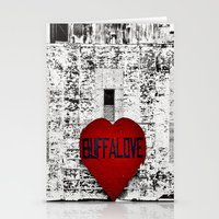 Buffalo Love black white and red Stationery Cards