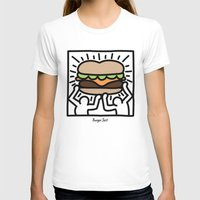 Pop Art Burger #1 Womens Fitted Tee White SMALL