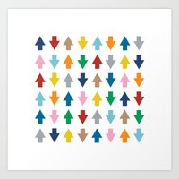 Arrows Up And Down Art Print