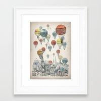Framed Art Print featuring Voyages over Edinburgh by David Fleck