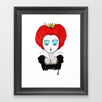 The Queen of your heart Framed Art Print