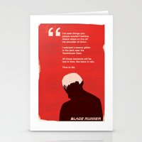 BLADE RUNNER TEARS IN RA… Stationery Cards