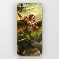 Green Angel iPhone & iPod Skin
