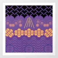 HARMONY pattern Alt 3 Art Print