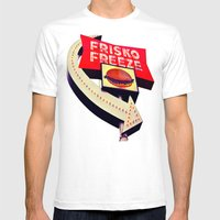 Nostalgic Drive-thru Mens Fitted Tee White SMALL