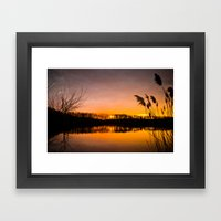 Manasquan Sunset Framed Art Print