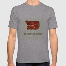 Bacon! Mens Fitted Tee Athletic Grey SMALL