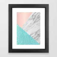 Framed Art Print featuring Real Italian Marble With… by Cafelab