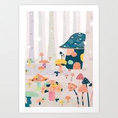 Mushroom Euphoria Art Print