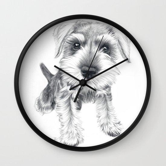 Schnozz the Schnauzer Wall Clock