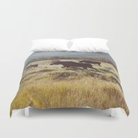 Three Meadow Moose Duvet Cover