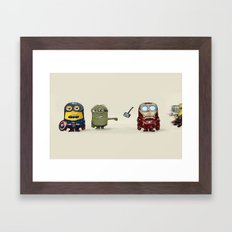 Minion Avengers Framed Art Print