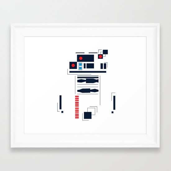 R2D2 Abstract Framed Art Print