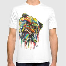 Sophisticated Bear White Mens Fitted Tee SMALL