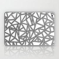 Abstract New Black on White Laptop & iPad Skin
